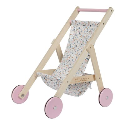 Holz Puppenbuggy – Spring Flowers