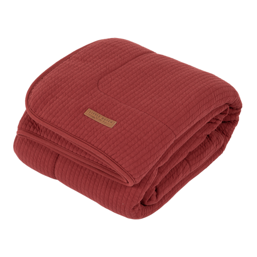 Picture of Cot blanket Pure Indian Red