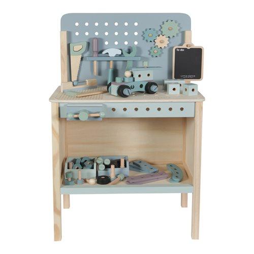 Spielwerkbank mit Werkzeuggürtel