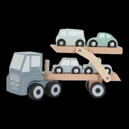Camion transporteur bleu