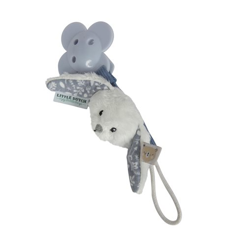 Picture of Pacifier clip rabbit blue