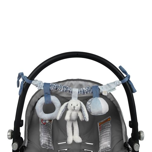 Picture of Stroller toy chain rabbit blue
