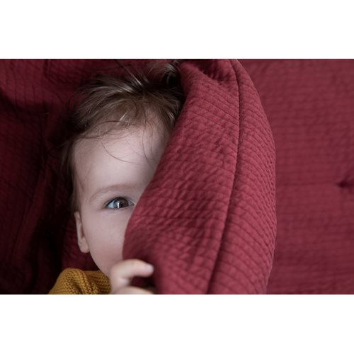 Picture of Cot blanket cover Pure Indian Red