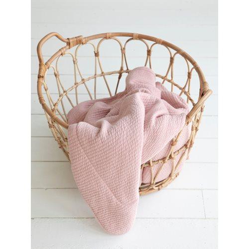 Afbeelding van Dekenovertrek wieg Pure Pink
