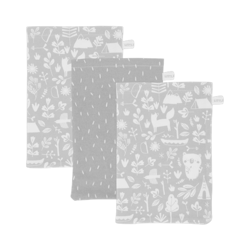 Picture of Washcloths set Adventure Grey