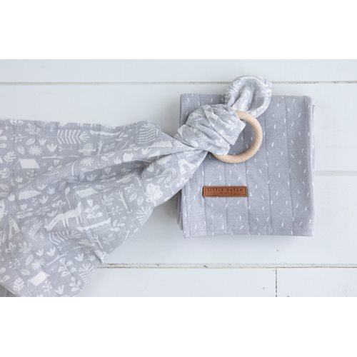 Musselintuch Swaddle 120 x 120 Adventure Grey