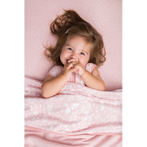 Picture of Cot blanket cover Adventure Pink
