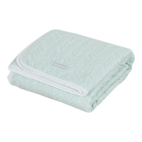 Picture of Cot blanket Pure & soft Mint Leaves