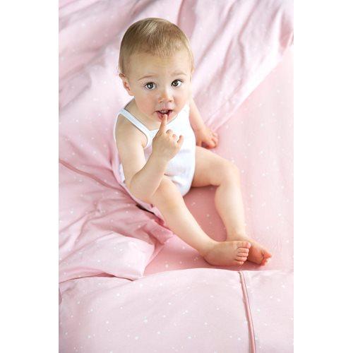 Afbeelding van Dekenovertrek ledikant Little Stars Pink