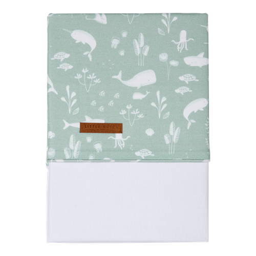 Picture of Cot sheet Ocean Mint