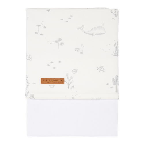 Picture of Cot sheet Ocean White
