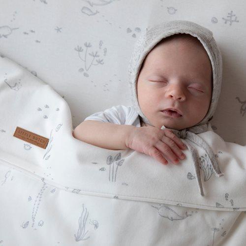 Drap de lit bébé Ocean White