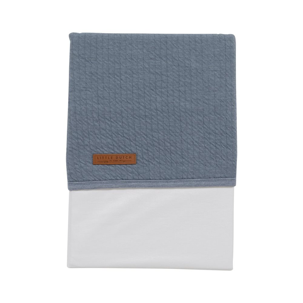 Picture of Cot sheet Pure Blue