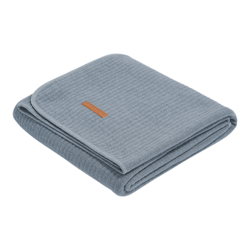 Picture of Cot summer blanket Pure Blue
