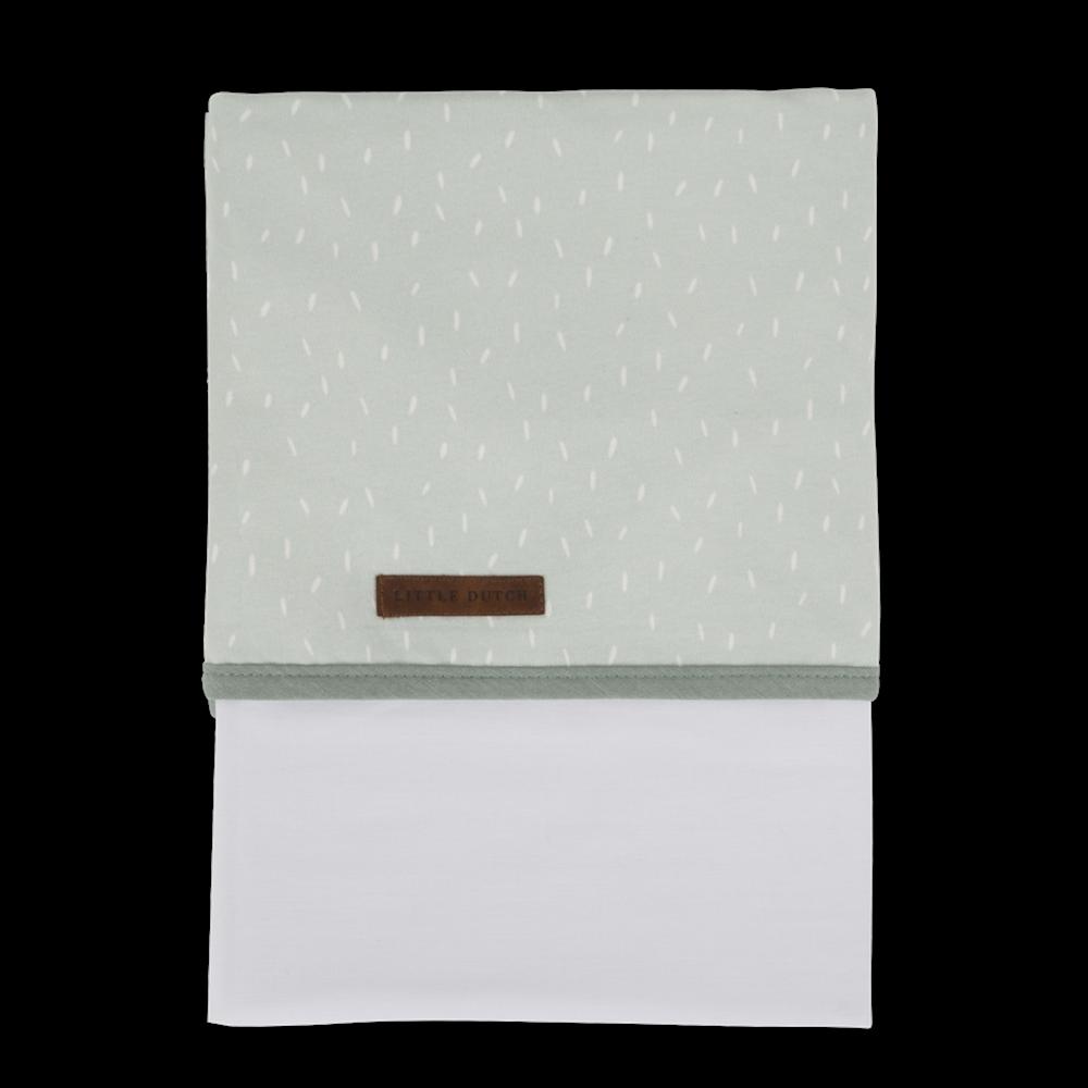 Drap de lit bébé Mint Sprinkles
