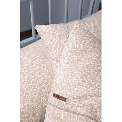 Picture of Cot blanket cover Beige Waves