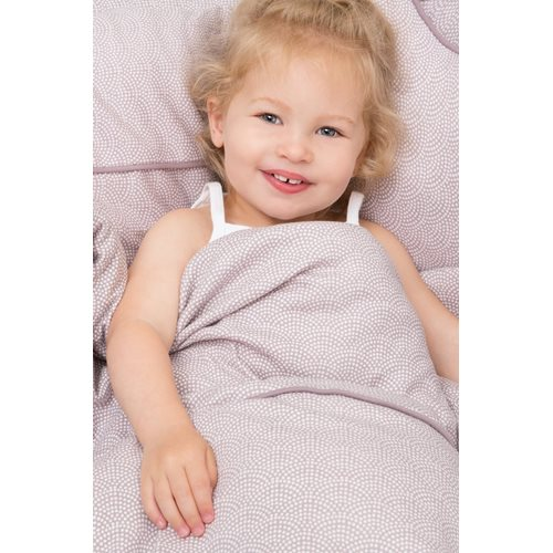 Picture of Cot blanket cover Mauve Waves
