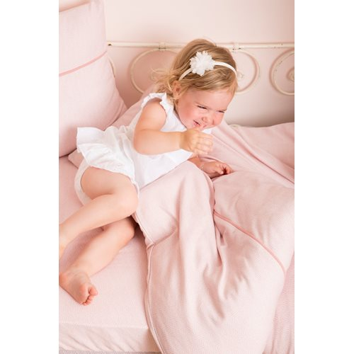 Picture of Cot blanket cover Pink Waves