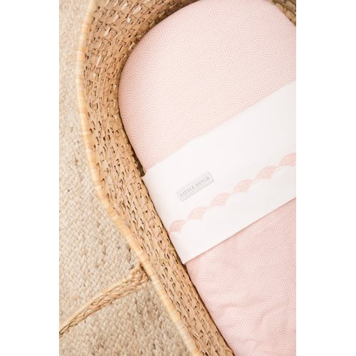 Picture of Cot sheet Pink Waves embroidered