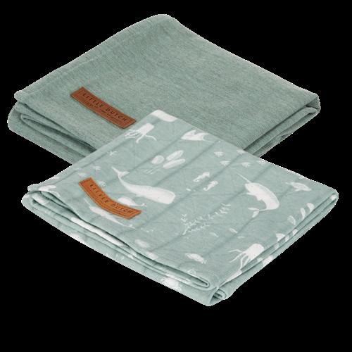 Afbeelding van Hydrofiele doeken 70 x 70 Ocean Mint/Pure Mint