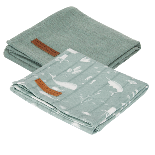 Picture of Muslin cloths 70 x 70 Ocean Mint/Pure Mint