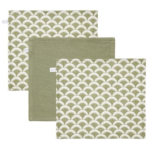 Picture of Facecloths Sunrise Olive / Pure Olive