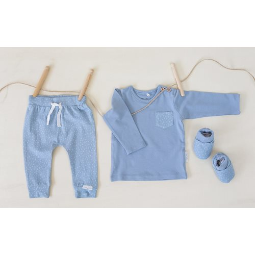 Picture of Baby T-Shirt long sleeves 68 - Blue Sprinkles