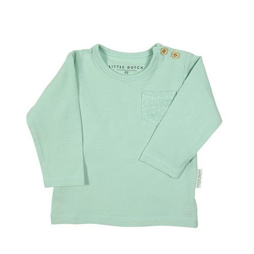 Baby T-Shirt langen Ärmeln 56 - Mint Sprinkles