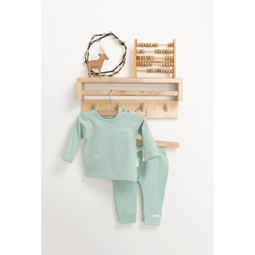 Baby T-Shirt langen Ärmeln 68 - Mint Sprinkles