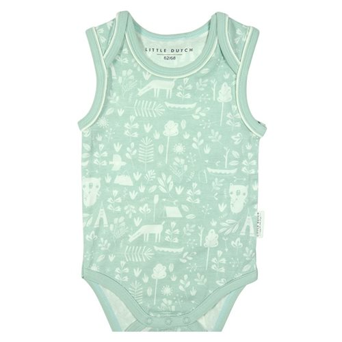Picture of Baby bodysuit 74/80 sleeveless Adventure Mint