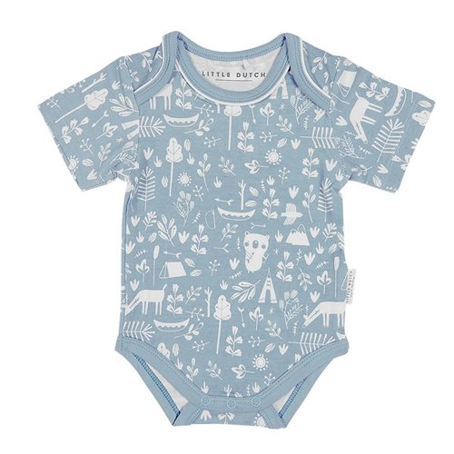 Picture of Baby bodysuit short sleeves Adventure Blue 74/80