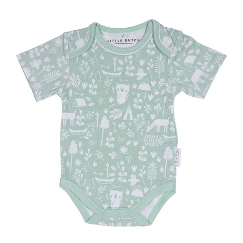 Picture of Baby bodysuit short sleeves Adventure Mint 74/80