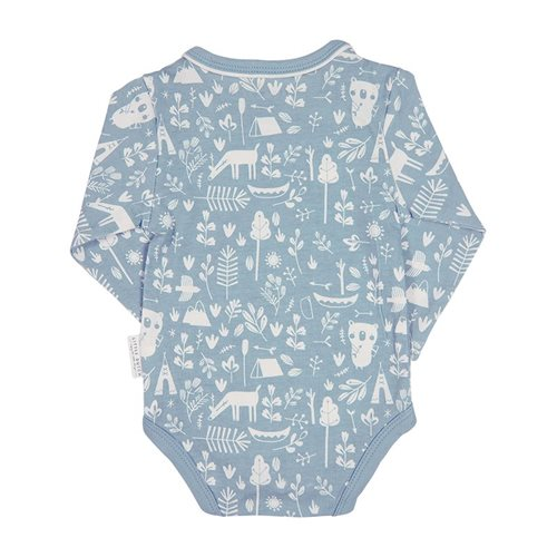 Picture of Baby bodysuit long sleeves 62/68 - Adventure Blue