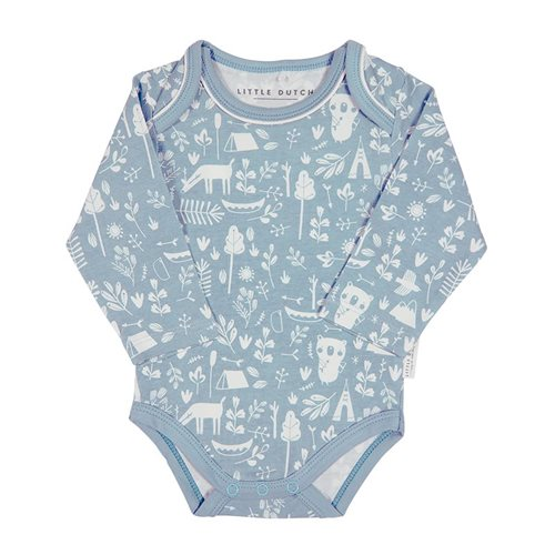 Picture of Baby bodysuit long sleeves Adventure Blue 74/80