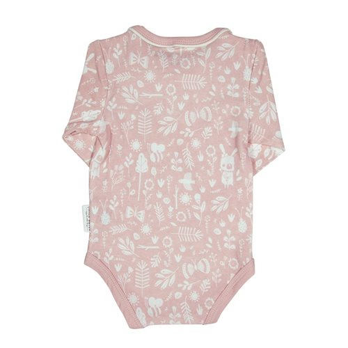 Body langen Ärmeln 50/56 - Adventure Pink