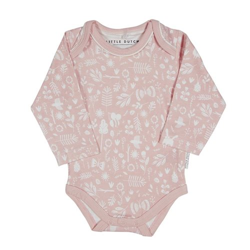 Picture of Baby bodysuit long sleeves 62/68 - Adventure Pink