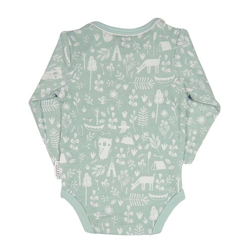 Picture of Baby bodysuit long sleeves 50/56 - Adventure Mint
