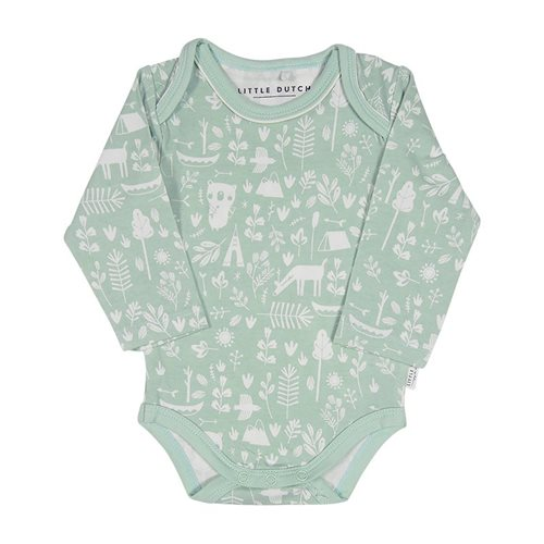 Picture of Baby bodysuit long sleeves Adventure Mint 74/80