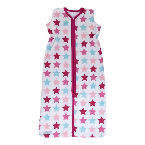 Schlafsack Sommer 110 cm Mixed Stars Pink