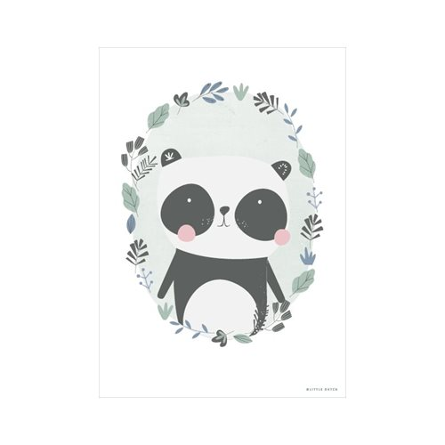 Picture of Poster Panda mint