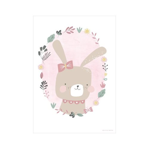 Poster Hase rosa