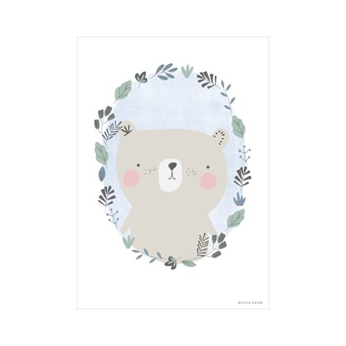 Picture of Poster Bear blue