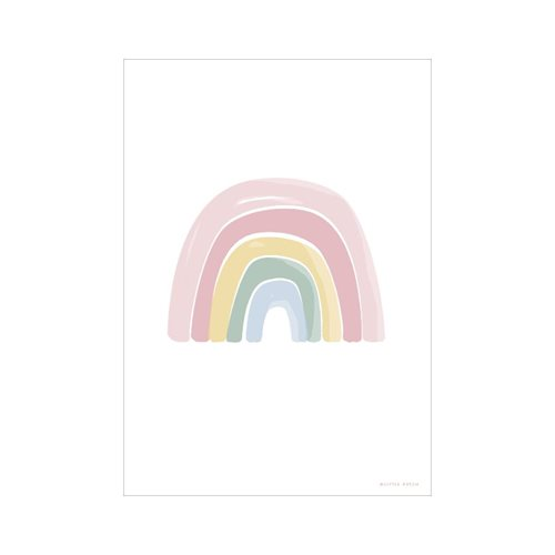Poster Regenbogen Alphabet rosa