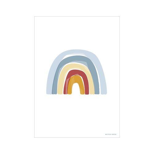 Poster Regenbogen Alphabet blau