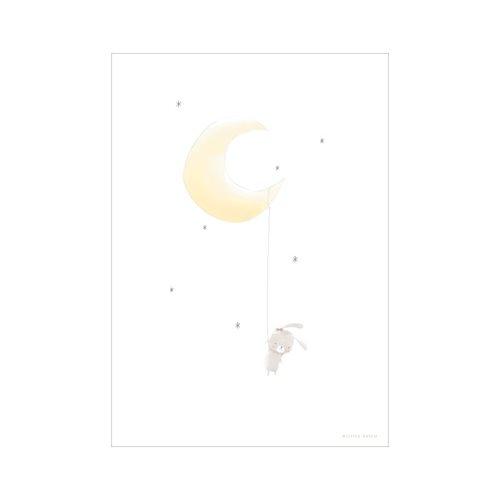 Poster Hase auf dem Mond