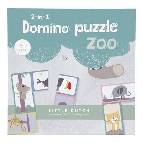 Afbeelding van Domino puzzel dierentuin