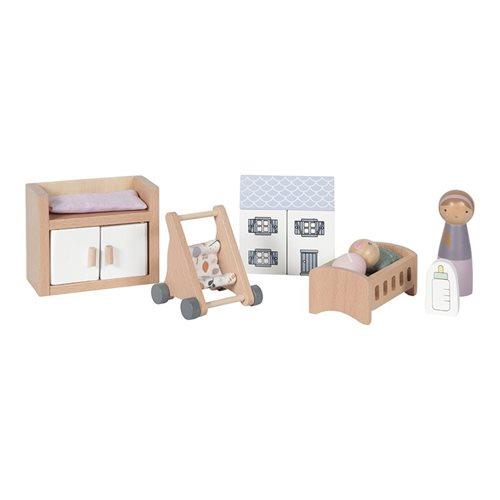 Afbeelding van Poppenhuis speelset Babykamer