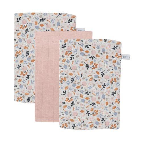 Waschhandschuhe Set Pure Pink / Spring Flowers