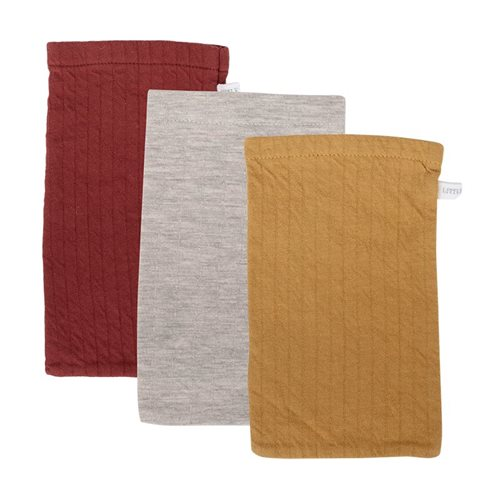 Afbeelding van Washandjes set Pure Indian Red / ochre