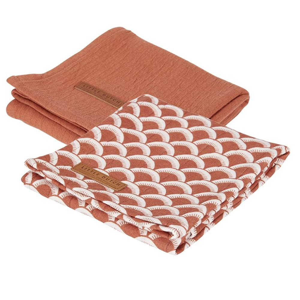 Picture of Swaddles 70 x 70 Sunrise Rust / Pure Rust
